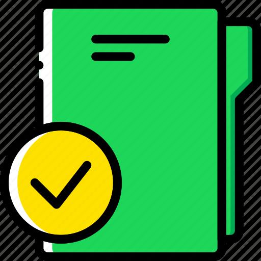 document, file, folder, success, write icon