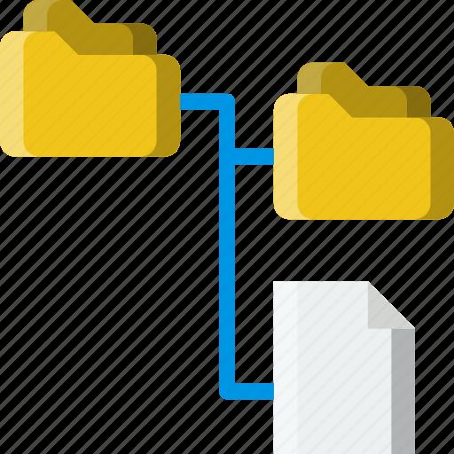 document, file, folder, lan, write icon