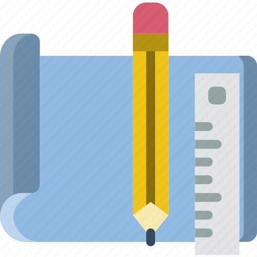 document, drawing, file, folder, tools, write icon