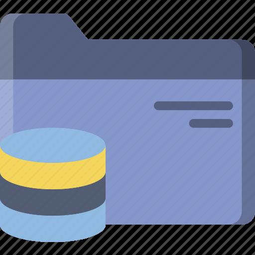 database, document, file, folder, write icon