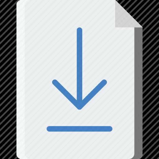 document, download, file, folder, write icon