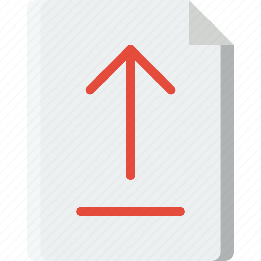 document, file, folder, upload, write icon