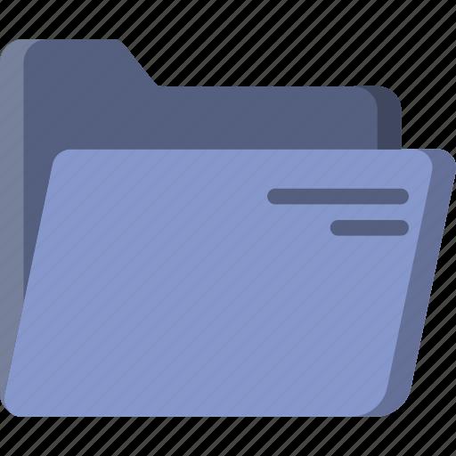 document, file, folder, open, write icon