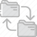 document, file, folder, transfer, write icon