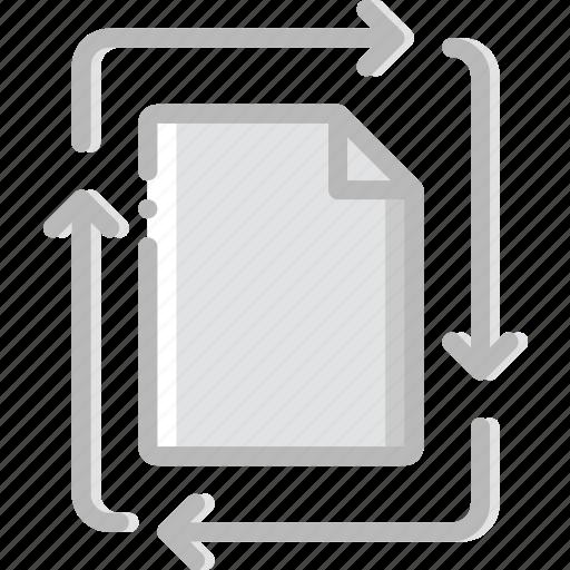 document, file, folder, transfer, write icon