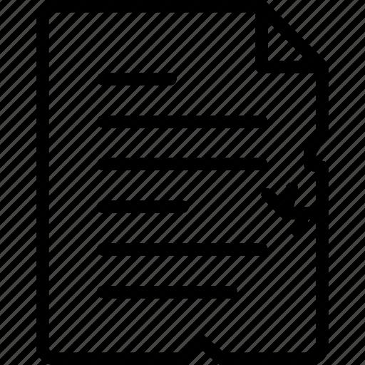 document, file, folder, tron, write icon