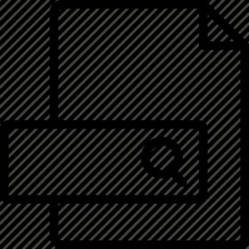 document, file, folder, serach, write icon