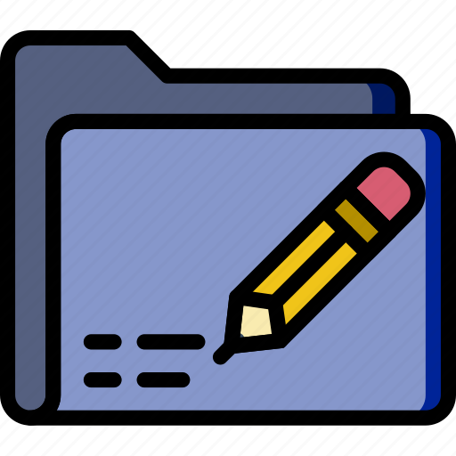 document, edit, file, folder, write icon