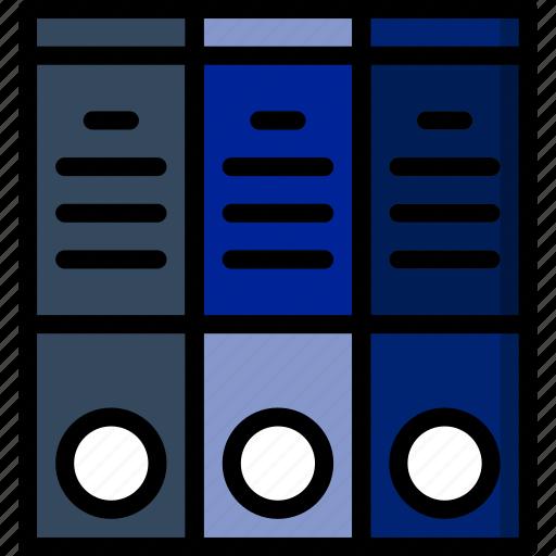 binders, document, file, folder, write icon