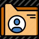 document, employee, file, folder, write icon