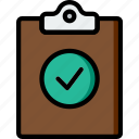 document, file, filpboard, folder, success, write icon