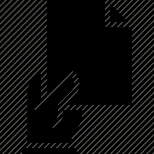 document, file, folder, give, write icon