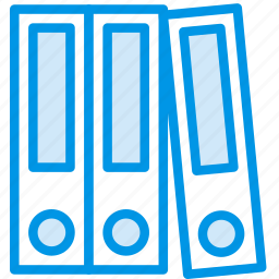 binders, document, file, folder, write icon