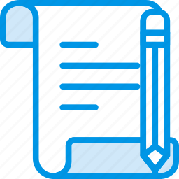 document, file, folder, write icon