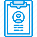 document, employee, file, folder, write icon