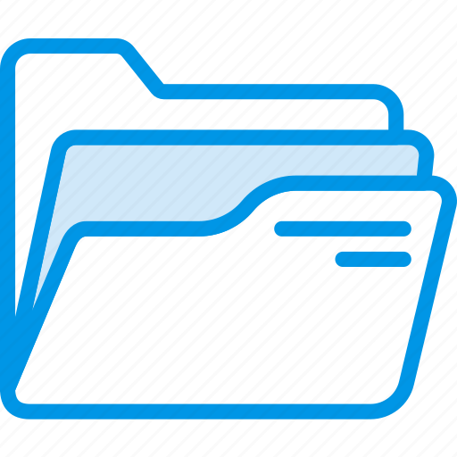document, file, folder, open, write icon