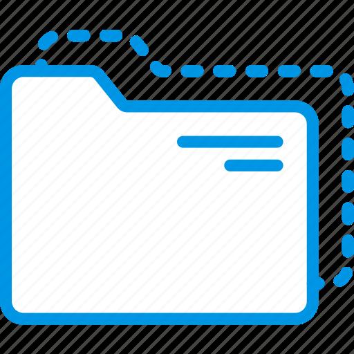 document, file, folder, move, write icon