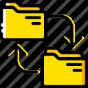 document, file, folder, transfer, write