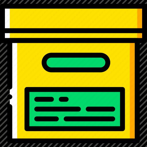 box, document, file, folder, write icon