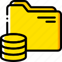 database, document, file, folder, write icon