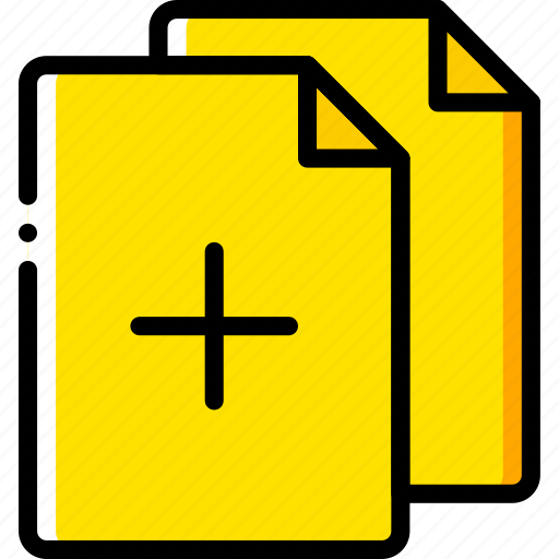 add, document, file, folder, write icon