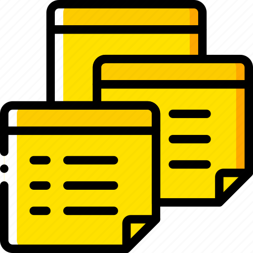 document, file, folder, notes, write icon