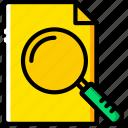 document, file, folder, search, write