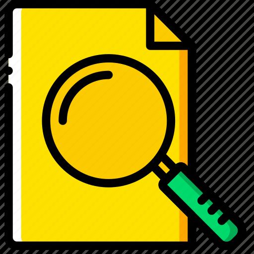 document, file, folder, search, write icon