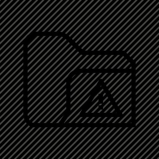 archive, document, file, folder, storage, warning icon