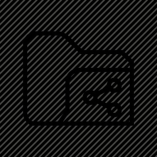 archive, file, folder, network, share, storage icon