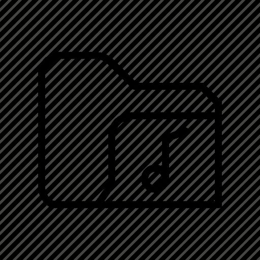 archive, document, file, folder, music, storage icon