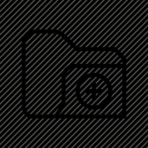 add, archive, document, file, folder, storage icon