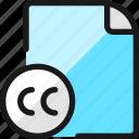 file, copyright, cc