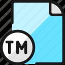 file, copyright, tm