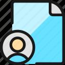 file, copyright, user