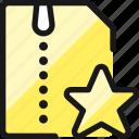 zip, file, star