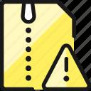 zip, file, warning