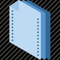 document, folder, isometric icon