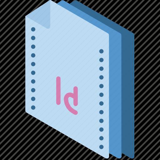File, folder, indesign, isometric icon - Download on Iconfinder
