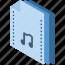 file, folder, isometric, music