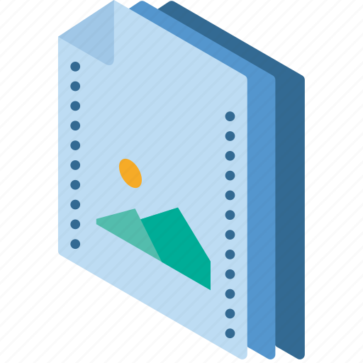 File, folder, isometric, picture icon - Download on Iconfinder