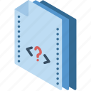 file, folder, isometric, php icon