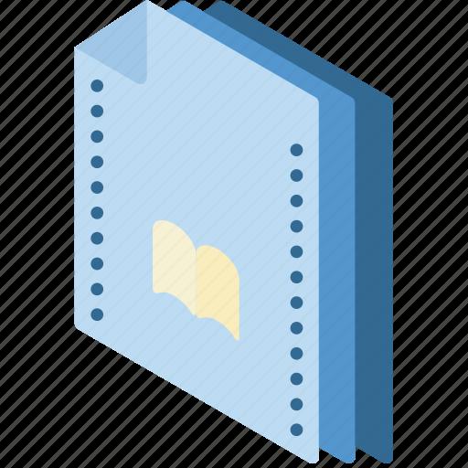 Bookmarks, file, folder, isometric icon - Download on Iconfinder