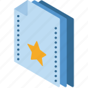 favourites, file, folder, isometric icon