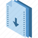 download, file, folder, isometric