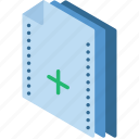 add, file, folder, isometric icon