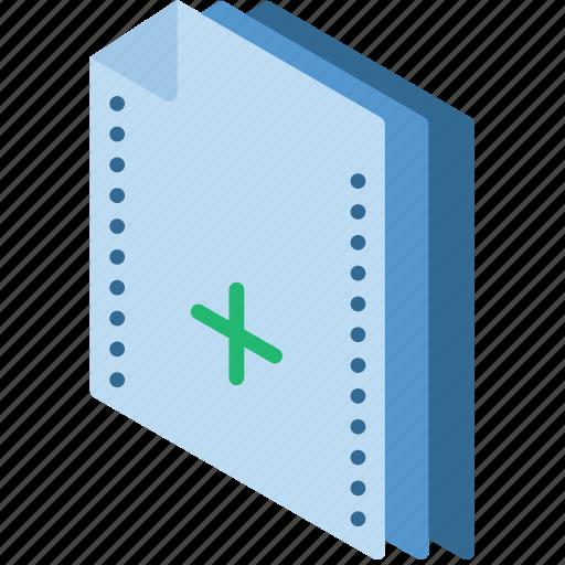 add, file, folder, isometric icon