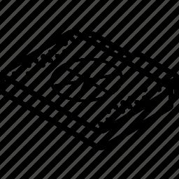 burn, file, folder, isometric icon