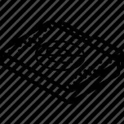 file, folder, hide, isometric icon