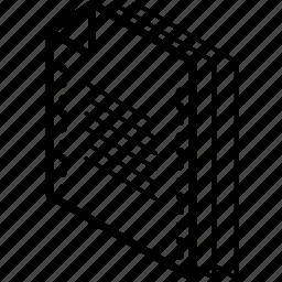 file, folder, isometric, text icon